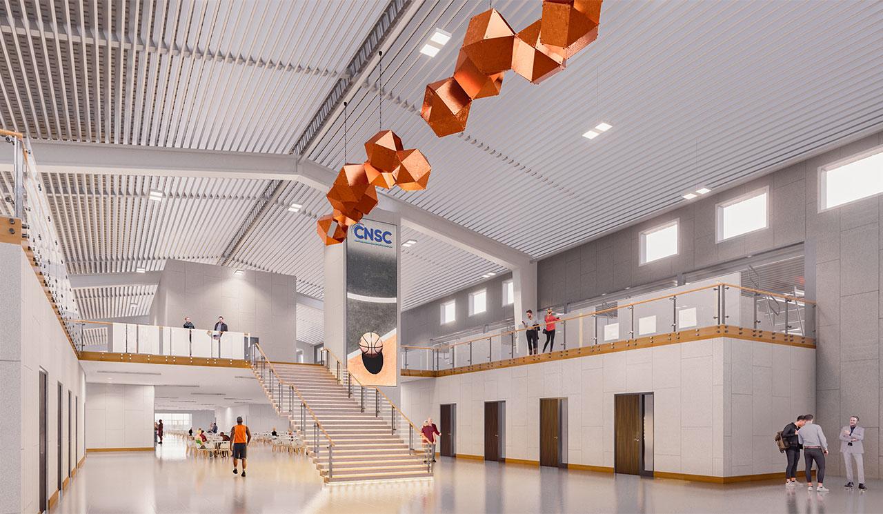 rendering of sports complex interior